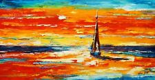Modern Art - Sailing Into The Sunset 60x120 cm Oil Painting
