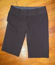 Charlotte Russe Linen Bermuda Shorts Brown Walking Shorts Woman's Size 9
