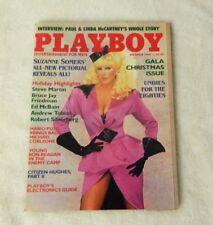 Playboy December 1984 Magazine Suzanne Somers Karen Velez Eighties Undies