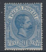 Italy Regno - 1884 Umberto I  Sass. Pacchi n.2 cv 780$  super centered MH*