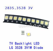 TV Backlight LED Diode LED SMD 3528 3V Coolwhite for Samsung Vizio LG RCA 10PCS