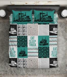 Eat Sleep Truck Love Truck Bedding Set Best Gift