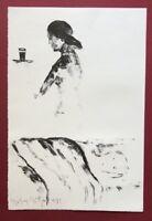 Stephan Stüttgen, Zwischen uns nichts, Lithographie, 1990, handsigniert und dat