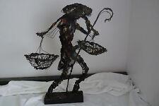 Tall Metal Sculpture by Reyes
