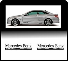 For MERCEDES-BENZ - 2 x RACING CHECKS - Side Skirt - CAR DECAL STICKER AMG