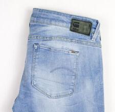 G-Star Crudo Donna 3301 Low Super Skinny Jeans Stretch Taglia W32 L32 APZ767