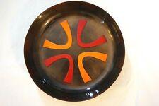 Jewish Enamel on Metal Plate Decorative Dish Made in Israel by Michaella Nice