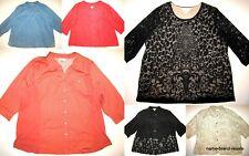 CJ BANKS Lot 6 Womens PLUS 3X Shirt Top Blouse Blazer Linen Lace Dressy Casual