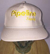 Vintage Pipeline Supply Hat Cap Thin Snapback Braided Rop Cord Oil Gas Korea