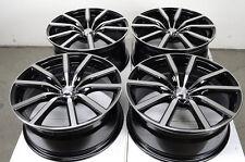 18 5x108 Black Wheels Fits Jaguar XJ S Type Volvo Xc90 V50 V70 S60 5 Lug Rims