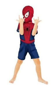 56% OFF! AUTH IMPORTED MARVEL SPIDER-MAN BOY ROMPER COSTUME SMALL 3-4 BNWT $8.99