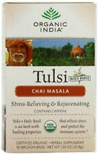 Organic India Tulsi Tea Chai Massala, 18 Count (Pack of 2)