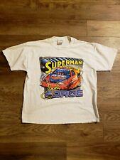 Vintage John Force Superman Racing White Short Sleeve T-Shirt