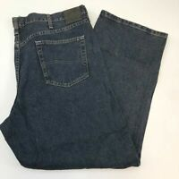 Lee Denim Jeans Mens 42X30 Blue Relaxed Straight Leg 100% Cotton Washed 5 Pocket