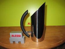 ALESSI *NEW* Carafe inox Mia H.23,5cm 70cl poignée noire MB02 Mario Botta