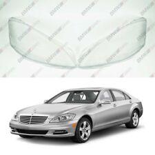 New Original Headlight Headlamp Lens Plastic Cover (PAIR) Mercedes S W221