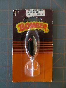 Vintage Mint in Package Bomber Slab Spoon #87MB - Chrome & Black