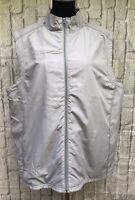 Sporte Leisure XL Unisex Lawn Bowls Approved Grey Puffer Vest Full Zip Jacket
