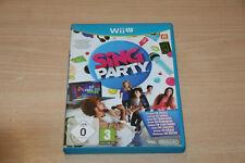 Sing Party (Nintendo Wii U, 2012, Eurobox) excellent état USK 0