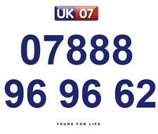 07888 96 96 62 Gold Easy Memorable Business Platinum VIP UK Mobile Phone Number