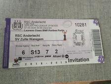 Ticket : RSC Anderlecht - Zulte Waregem 07.03.2020