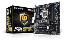 Gigabyte Z170M-D3H DDR3 Motherboard, LGA1151, DDR3, Intel Z170