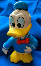"Rubber Donald Duck Figure Bank 6"" Toy Vtg Walt Disney Korea Rare 60s"