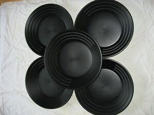 "5- 14"" BLACK GOLD PANS"