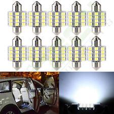 10x 6000k White 12V 31MM Festoon 12SMD 3528 LED Bulb Interior Light Lamps DE3022