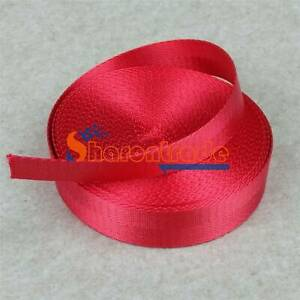 10m Nylon Webbing Strap 1inch Width Camping Climbing Harnesses Belts 25mm Red