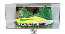 Custom Shoe Pair Display Case Acrylic Wall Mount 17 and Under Design Your Text