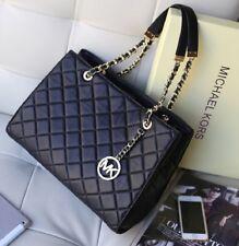 3d9bbc9696a0 Michael Kors 100% Quilted Lamb Leather Susannah Bag Black Large