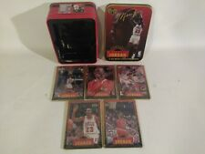1996 Upper Deck Jordan 5 Sealed all Metal collectors cards with tin box