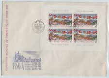 Czechoslovakia Sc 1080 NH Minisheet of 1961 - Praga'62 - FDC - Very Rare!