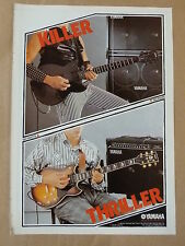 vintage magazine advert 1986 YAMAHA GUITAR