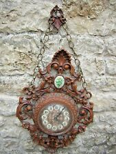 Ancienne horloge type forêt noire deco imitation bois plastique