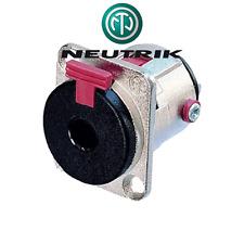 Fiche Jack 6.35 Femelle STEREO CHASSIS Auto Verrouillable NEUTRIK NJ3FP6C