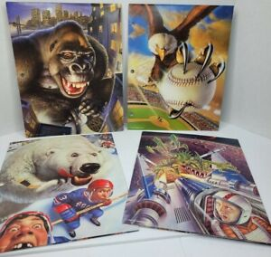 4 Mead No Rules Portfolio Folder Sports Animals Space Art Vintage 90s Folder