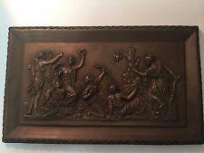"Large Plaster Cast Wall Art Plaque Bas Relief Roman Greek Mythology 13"" x 8"""
