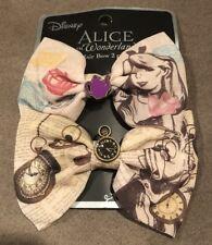 Disney Alice In Wonderland Storybook Cosplay Hair Bows Tie Hair Clip Set