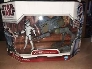 AT-RT with ARF Trooper 2009 STAR WARS The Clone Wars TCW MOC