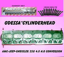 AMC JEEP CHRYSLER 258 4.0 H.O CONVERSION CYLINDER HEAD BOLTS & GASKETS REBUILT