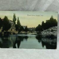 Vintage Postcard Grand River Scene Fergus Ontario Canada