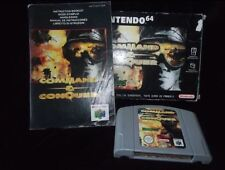 Vintage Nintendo 64 command and conquer PAL Game N64 WORKING BOXED