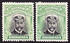 Rhodesia 1913 2d DIE 1 PERF 14 x2 SHADES SG 209 MH/MLH OG