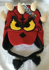 Disney Parks Star Wars Darth Maul Donald Duck Knit Hat, Unisex Adult/Youth, Red