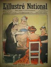 L'ILLUSTRé NATIONAL N° 33 HUMOUR CARICATURE DESSINS GUILLAUME LEBEGUE 1903