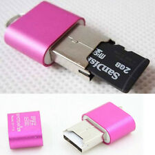 High Speed Mini USB 2.0 Micro SD TF T-flash Memory Card Reader Adapter Rose Red