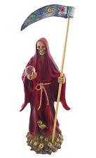 "14"" Red Statue La Santa Santisima Muerte Holy Death Grim Reaper Roja Skull"