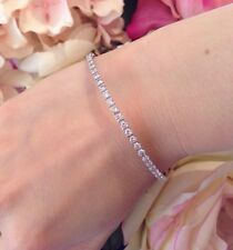 4,00ct Diamante Eternity apilable Pulsera Brazalete en 18ct Oro Blanco - hm1379